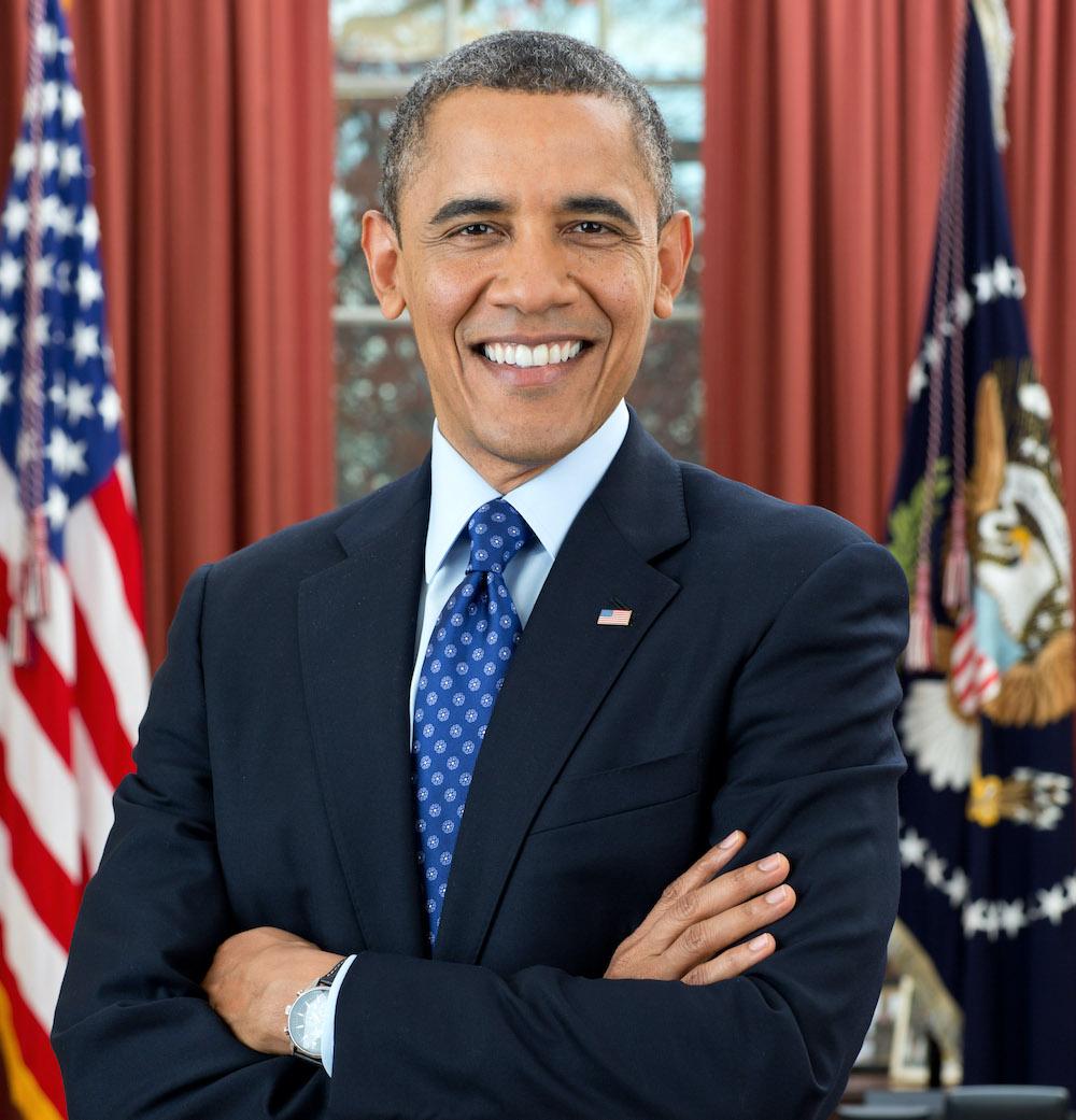Foto de Obama que refleja su atractivo y emociones positivas