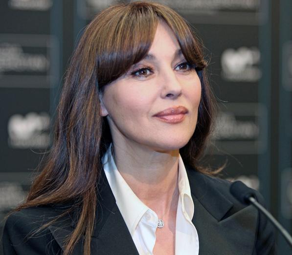 La bella Mónica Bellucci en su esplendorosa madurez.